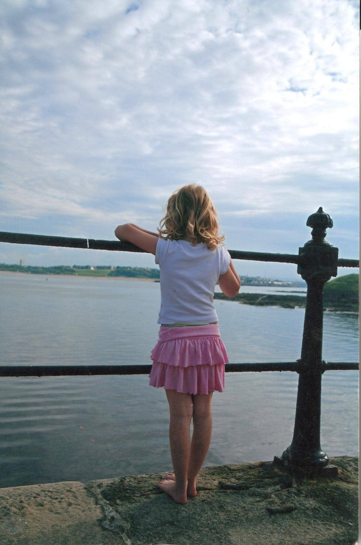 foster child at the seaside
